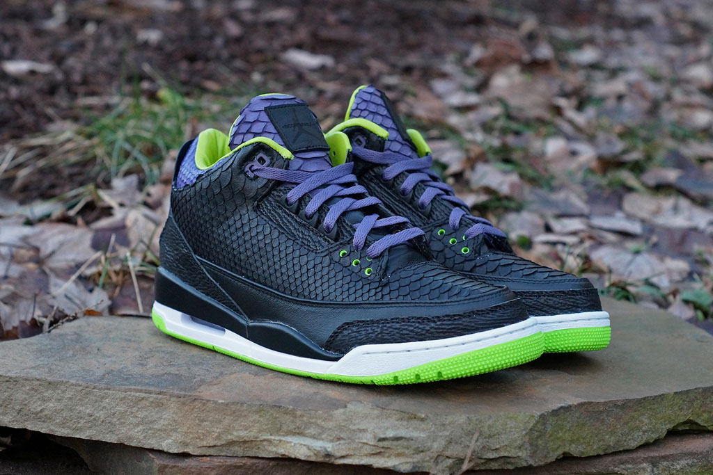 Air Jordan 3 Shark + Python + Kangaroo 'Joker' by JBF Customs (4)