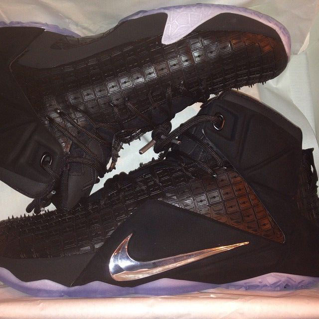 Nike LeBron XII 12 Black Rubber City