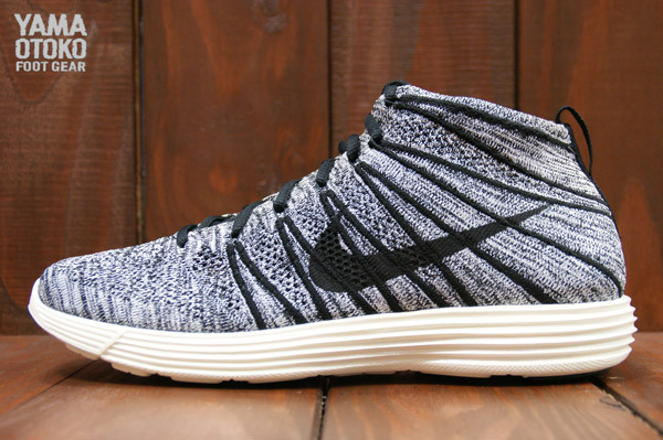 Nike Lunar Flyknit Chukka Black White Sail