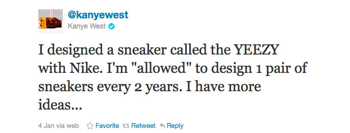 Kanye West's Twitter Rant Includes Terms of Nike Partnership (2)