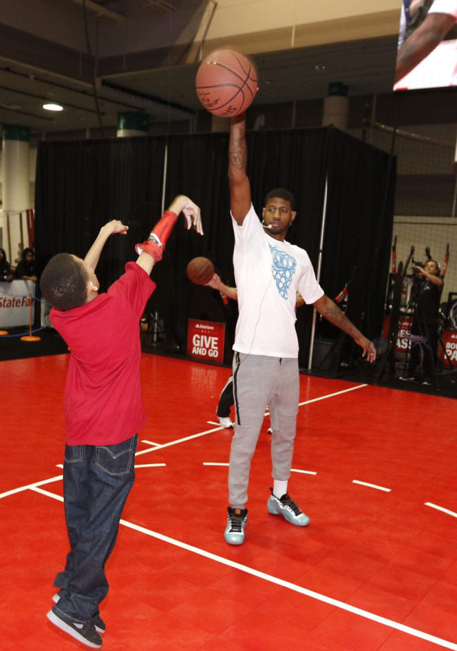 Paul George wearing Nike Air Flightposite Exposed Year of the Horse