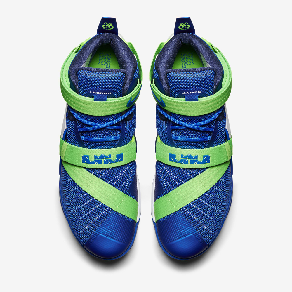 f59e64824831 Nike LeBron Soldier 9 Sprite Game Royal White Green