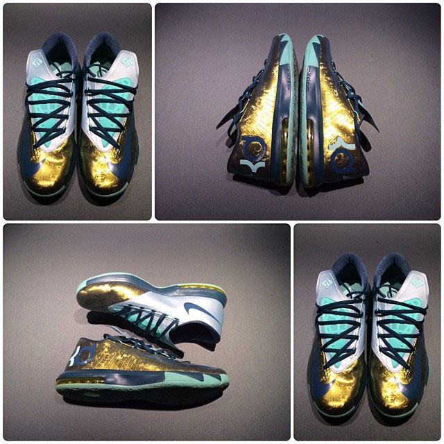 Nike KD 6 Gold/Navy-Teal