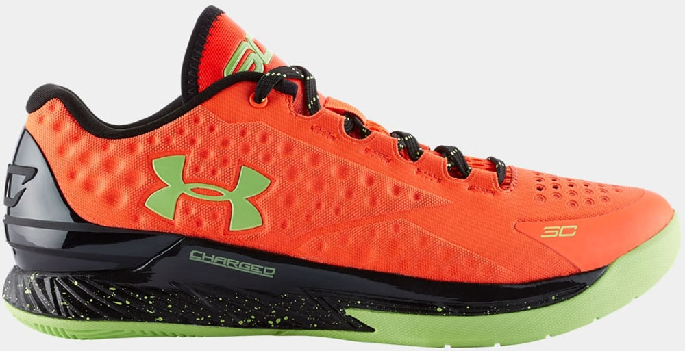 Under Armour Curry One Low Bolt Orange/Black-Avex Green