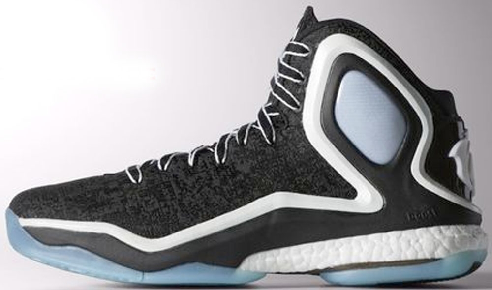 adidas D Rose 5 Boost Core Black/White-Ice Blue