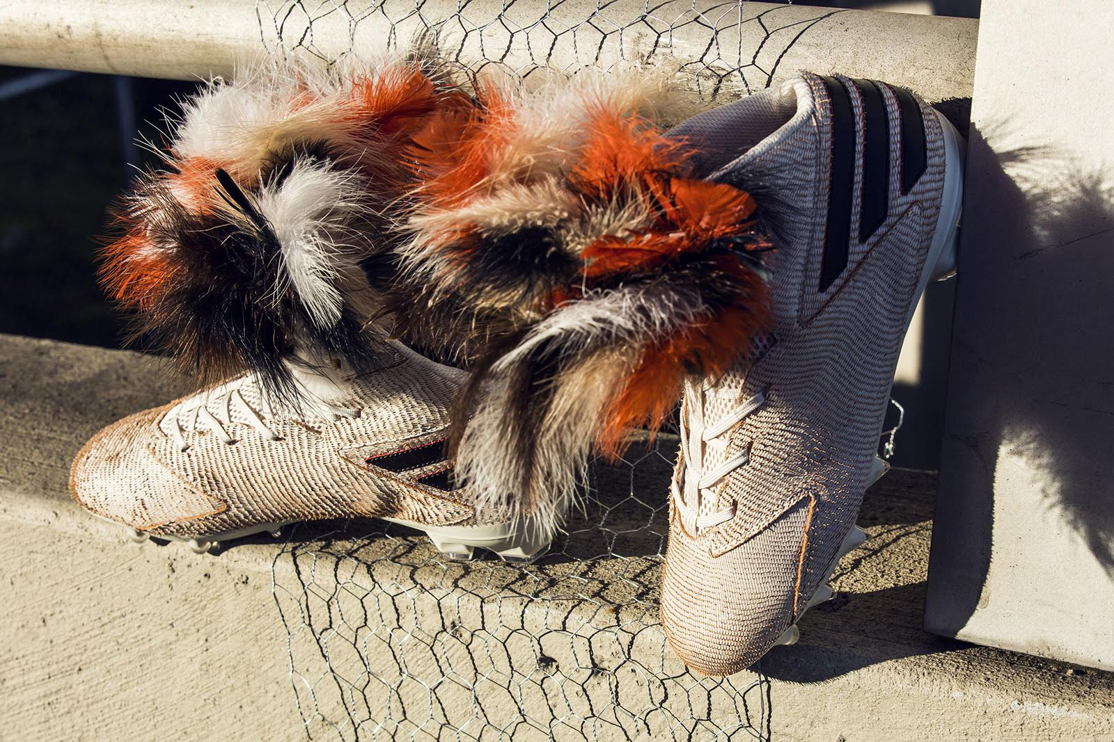 Von Miller Chicken Feather Cleats (2)