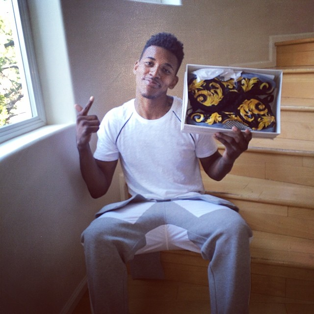 Nick Young Picks Up Supreme x Nike Air Foamposite One Black