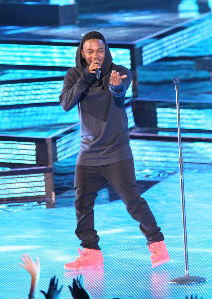 Kendrick Lamar Wears 'Red October' Nike Air Yeezy 2 (3)