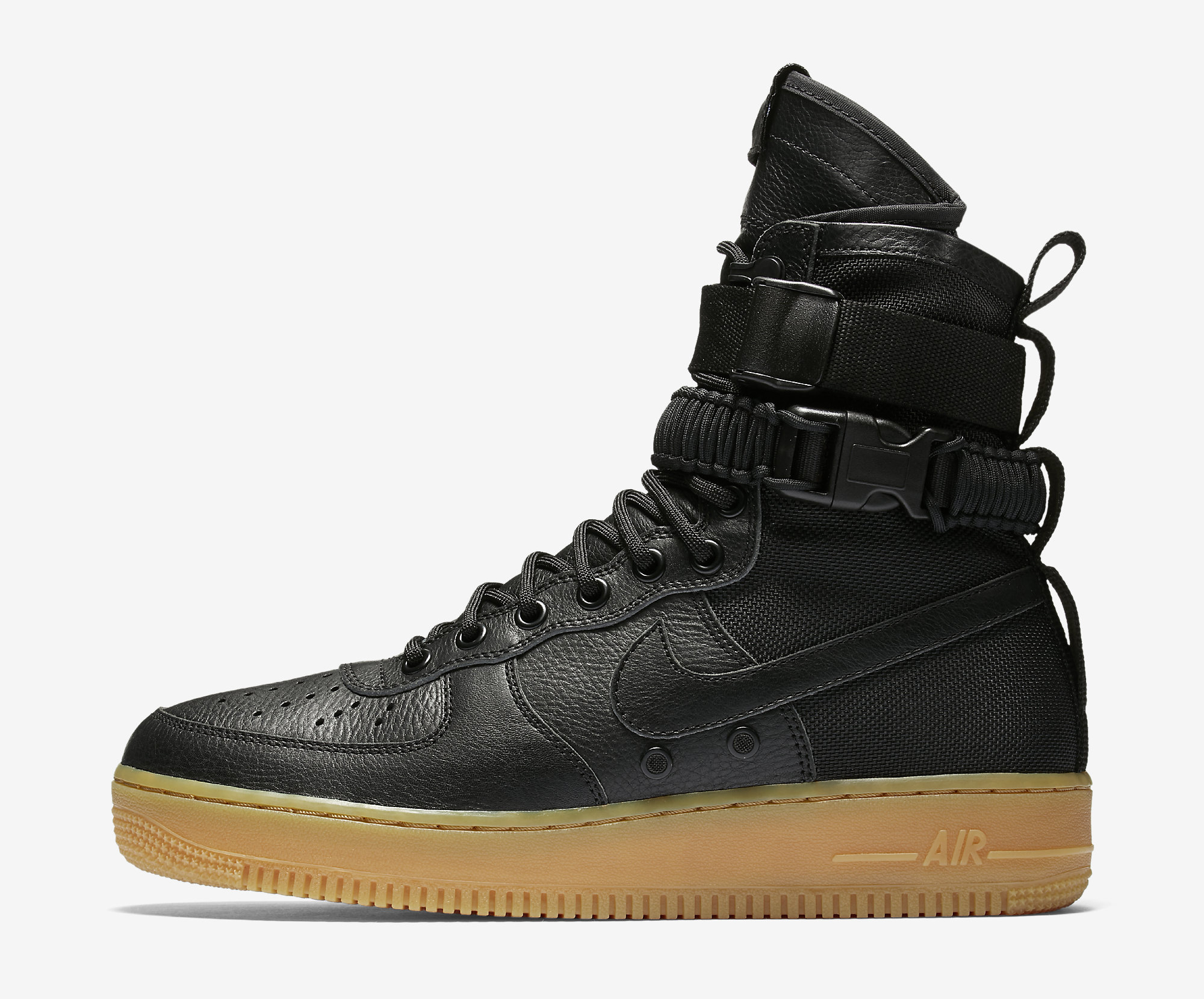 8ba5b9e0a3de0 Nike SFAF1 Black Gum Image via Nike Nike SFAF1 Faded Olive Gum Light Brown