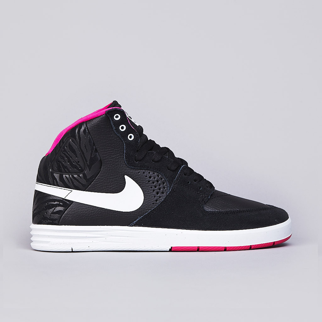Nike SB PRod 7 High in Black White and Pink Foil