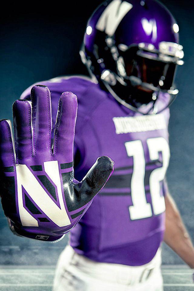 Under Armour Northwestern Football Uniforms Home (2)