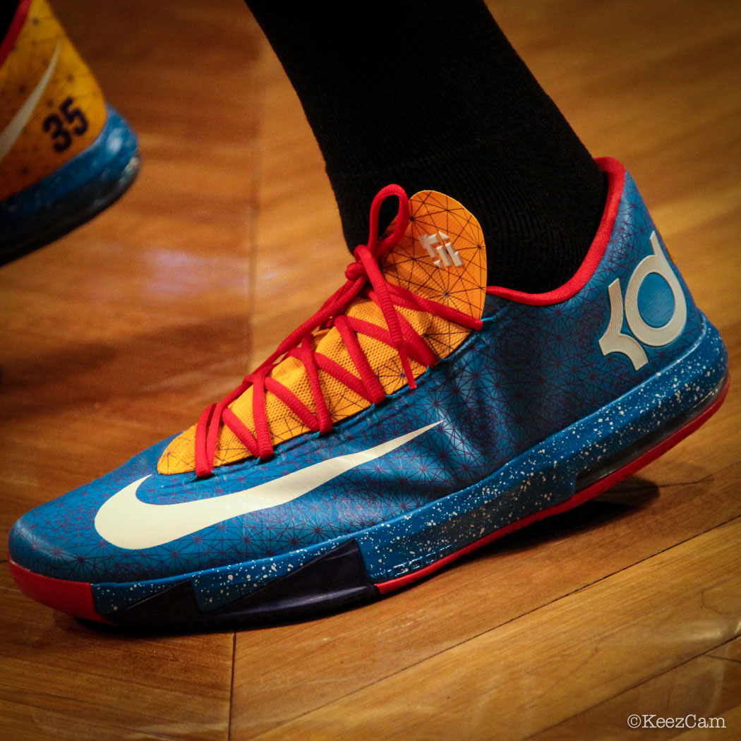 Kevin Durant wearing Nike KD 6 Year of the Horse iD PE