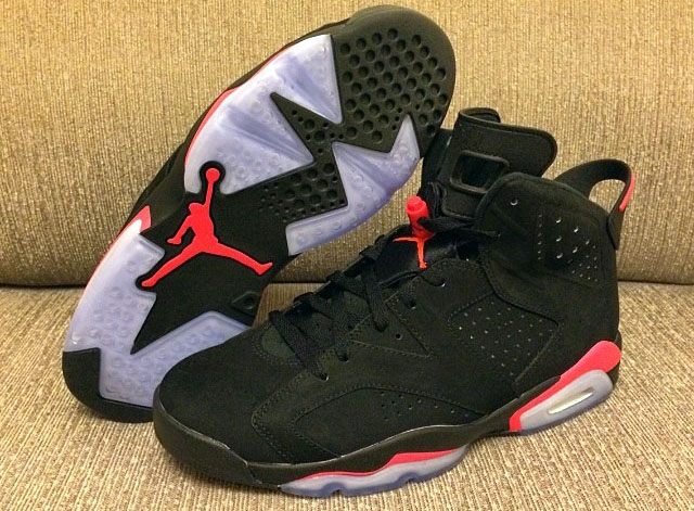 Air Jordan VI 6 Black/Infrared (5)