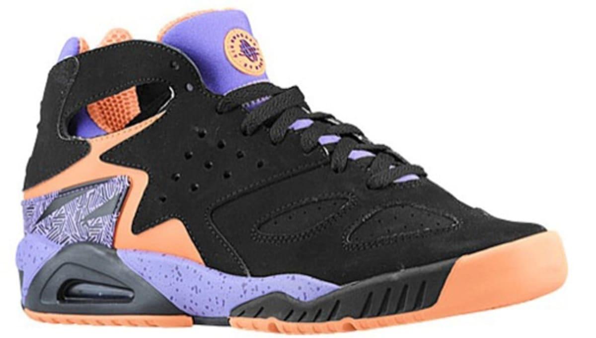 sports shoes 1a80f f92b1 Nike Air Tech Challenge Huarache Black Atomic Orange-Atomic Violet-Court  Purple