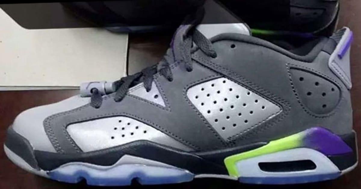 1a9ad933da682e Air Jordan 6 Retro Low Girls Dark Grey Ultraviolet-Wolf Grey-Ghost Green