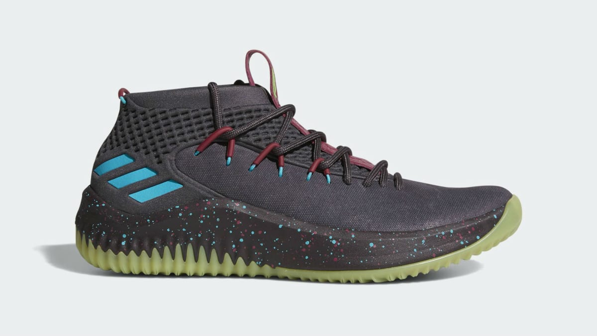 free shipping 82e63 8794f Adidas Dame 4 BlackGlow (Glow in the Park)