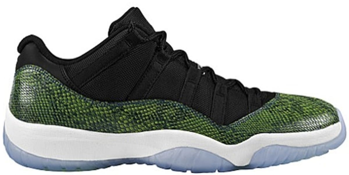 20ec6d4752 Air Jordan 11 Retro Low Black Nightshade-White-Volt Ice