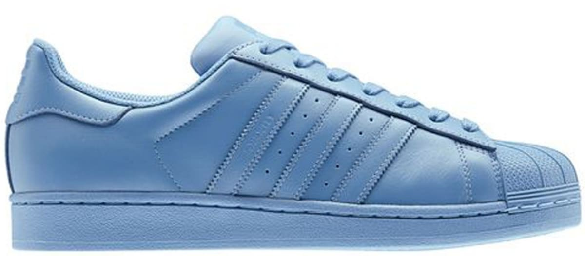 adidas superstar half bluehalf blue half blue adidas sole collector