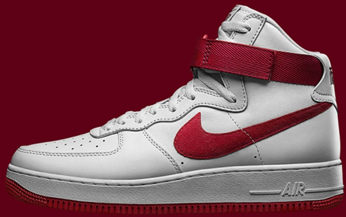 nike air force 1 varsity red white silver