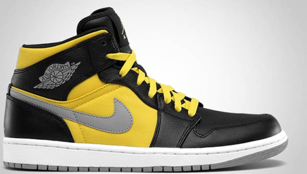 Black Label Price >> Air Jordan 1 Phat Mid Black/Stealth-Speed Yellow-White ...