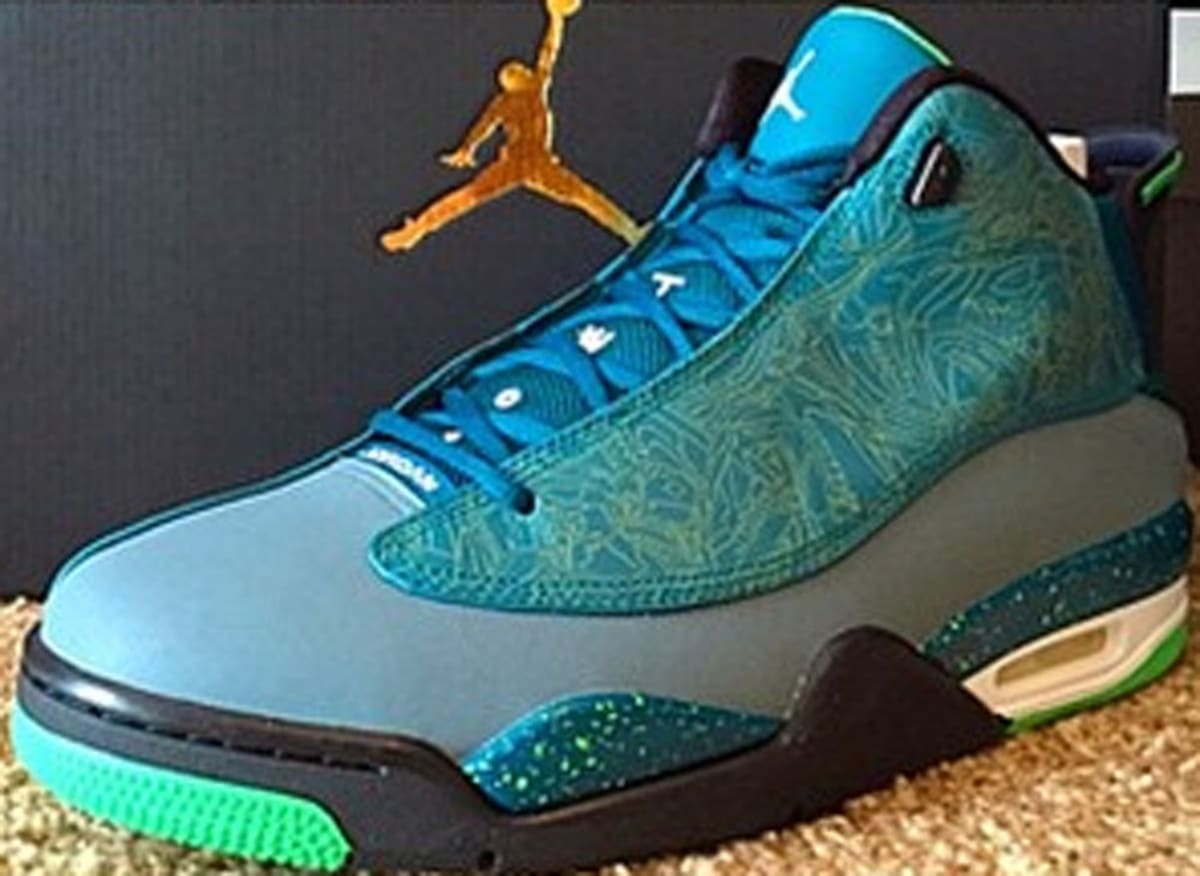 Jordan Dub Zero Teal/Blue Graphite-Black-Light Green Spark ...