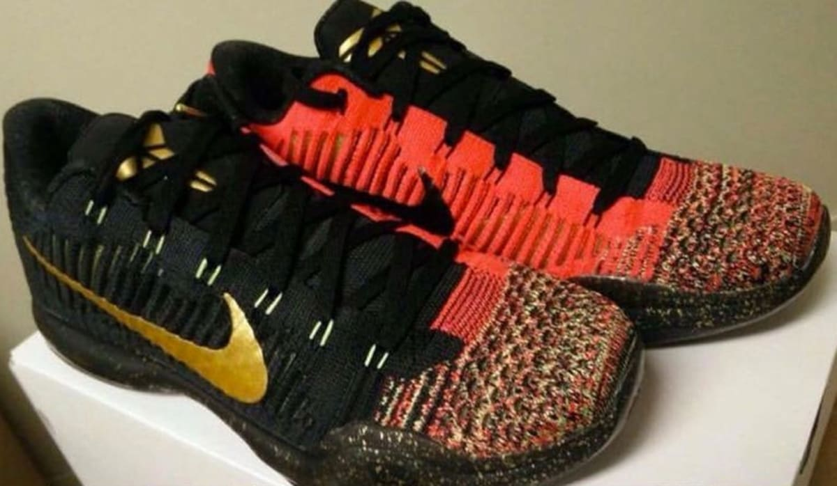 nike kobe 10 elite gold black christmas