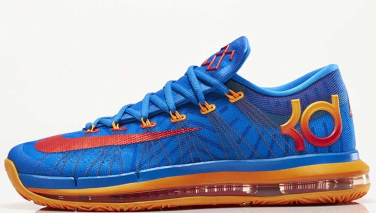 online store 3a169 41705 Nike KD VI Elite Photo BlueAtomic Orange-Vivid Blue-Team Ora