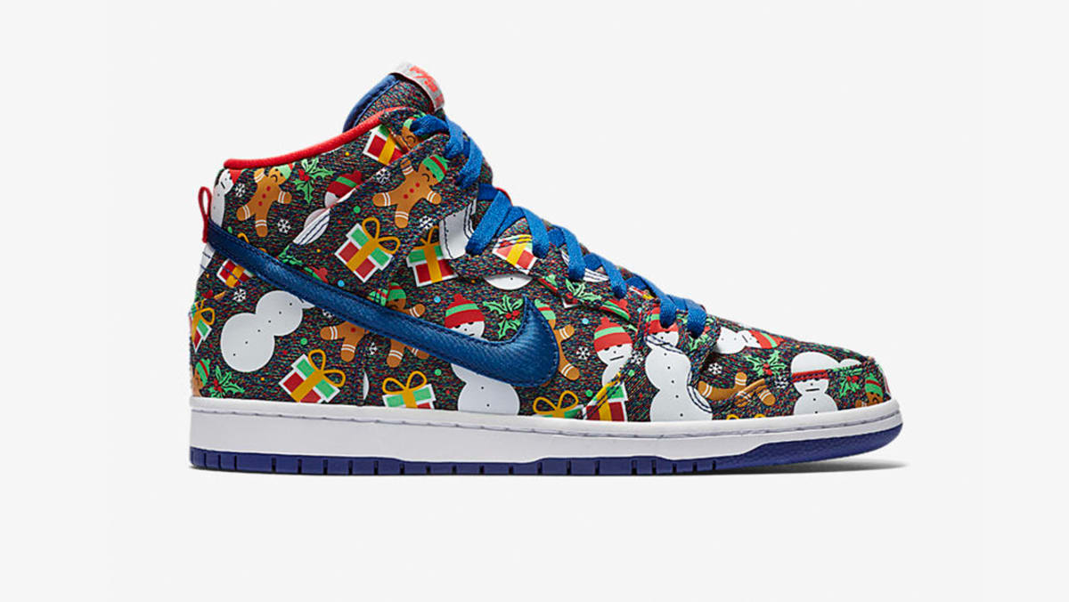 store 21984 24c6f nike sb dunk high x cncpts ugly christmas sweater ...