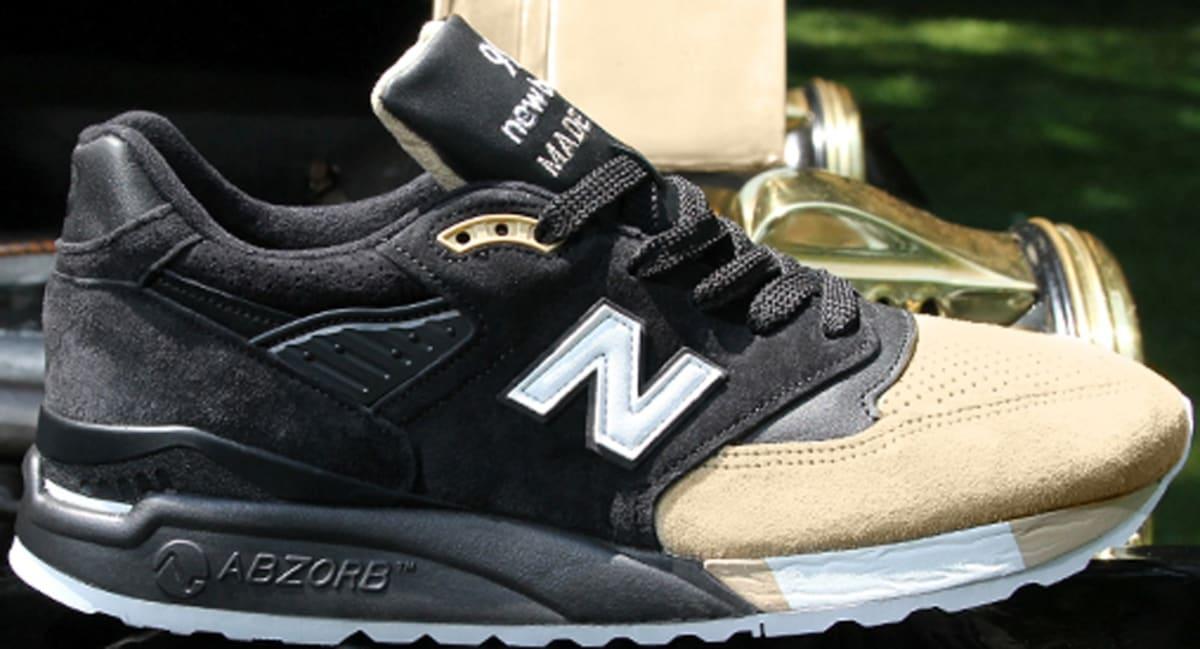 New Balance 998 Black/Tan-White   New