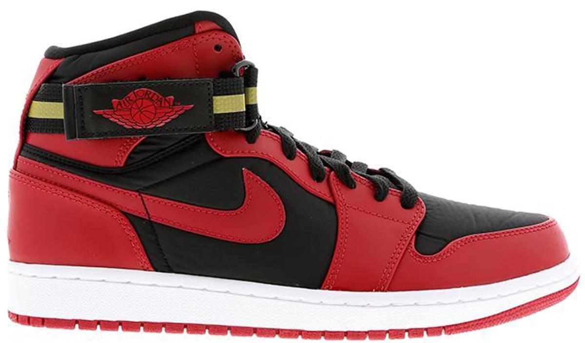 a84100df031 Air Jordan 1 Retro High Strap Black Gym Red-White