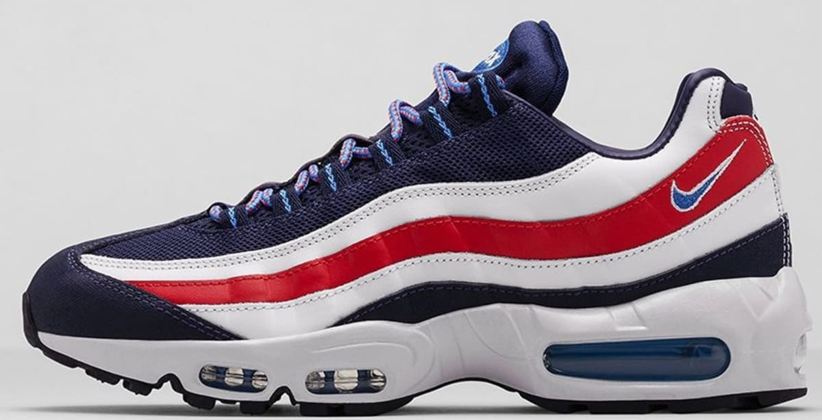 Red White And Blue Auto Sales >> Nike Air Max '95 City Midnight Navy/Distance Blue-White
