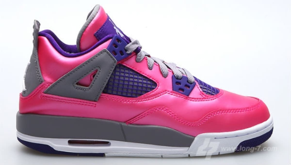 Girls Air Jordan 4 Retro GS Pink Foil