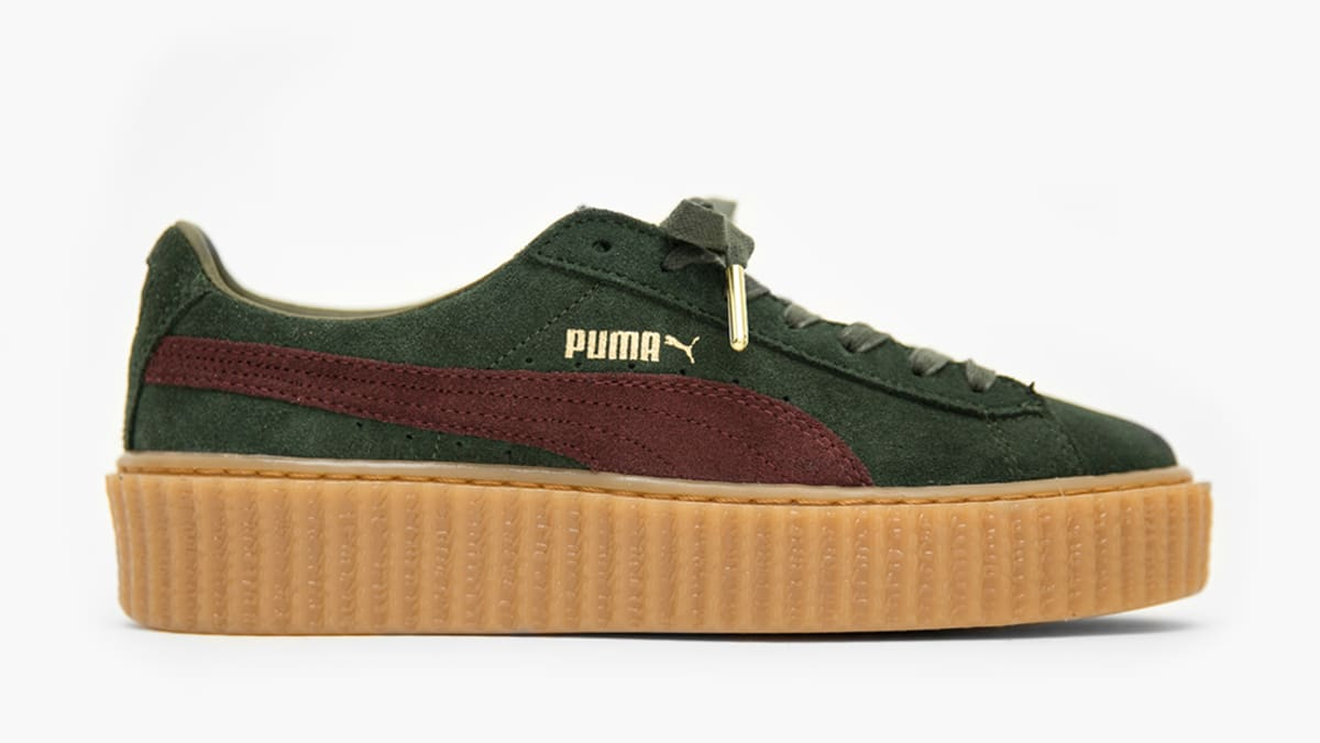puma suede creepers x fenty by rihanna bordeaux puma sole collector. Black Bedroom Furniture Sets. Home Design Ideas