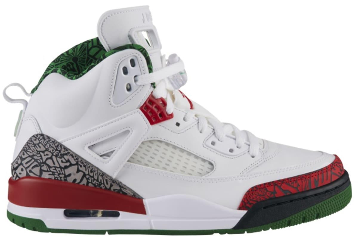 purchase cheap 38af2 25c2c Jordan Spiz ike White Varsity Red-Cement Grey-Classic Green   Jordan   Sole  Collector