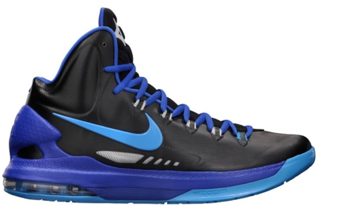 best cheap 571c9 5db3e Nike KD 5 Black Blue Glow   Nike   Sole Collector