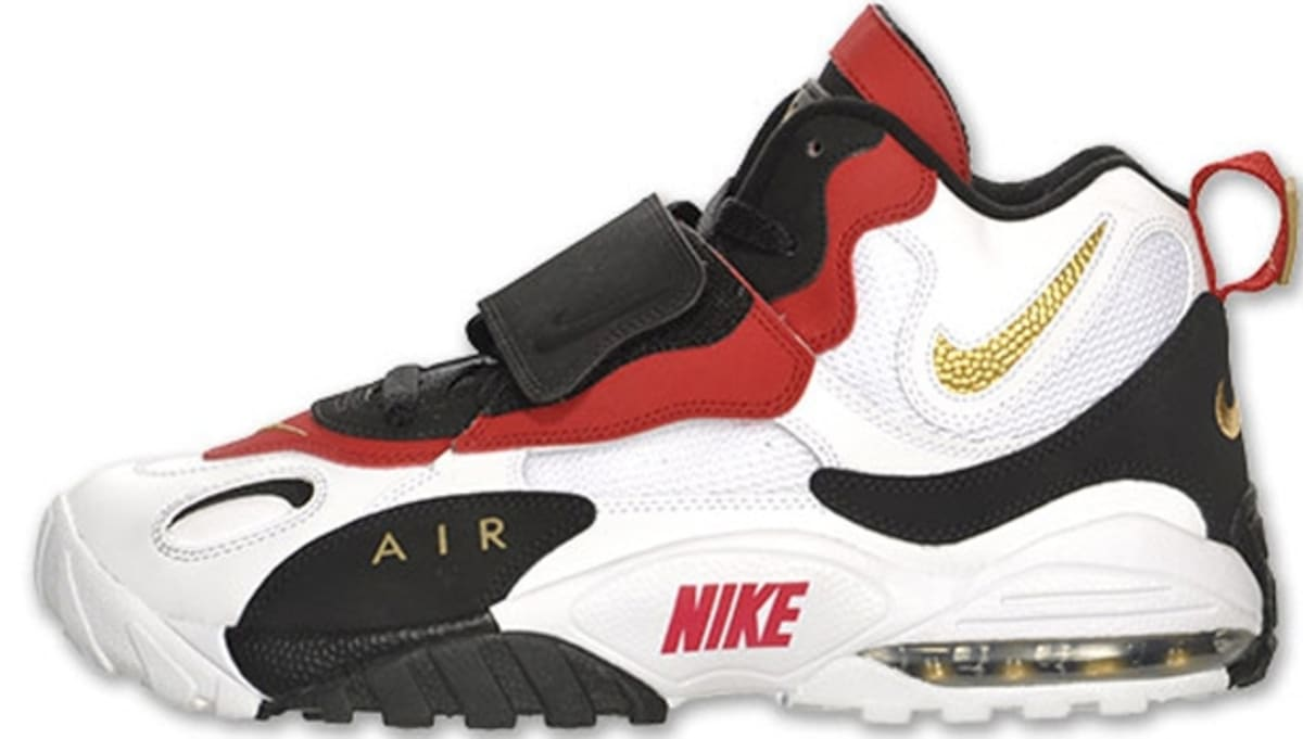 d3677de548 Nike Air Max Speed Turf White/Metallic Gold-Gym Red-Black