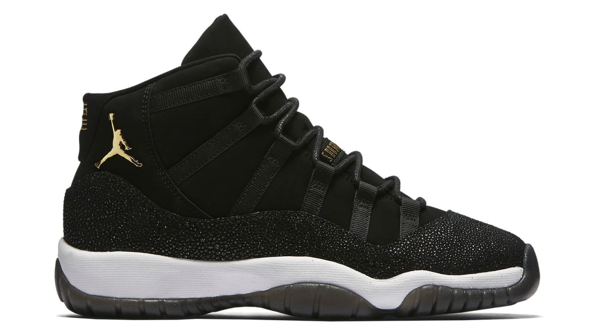 Best Latest Design Air Jordan 11 Black White Golden qosw8l8gc