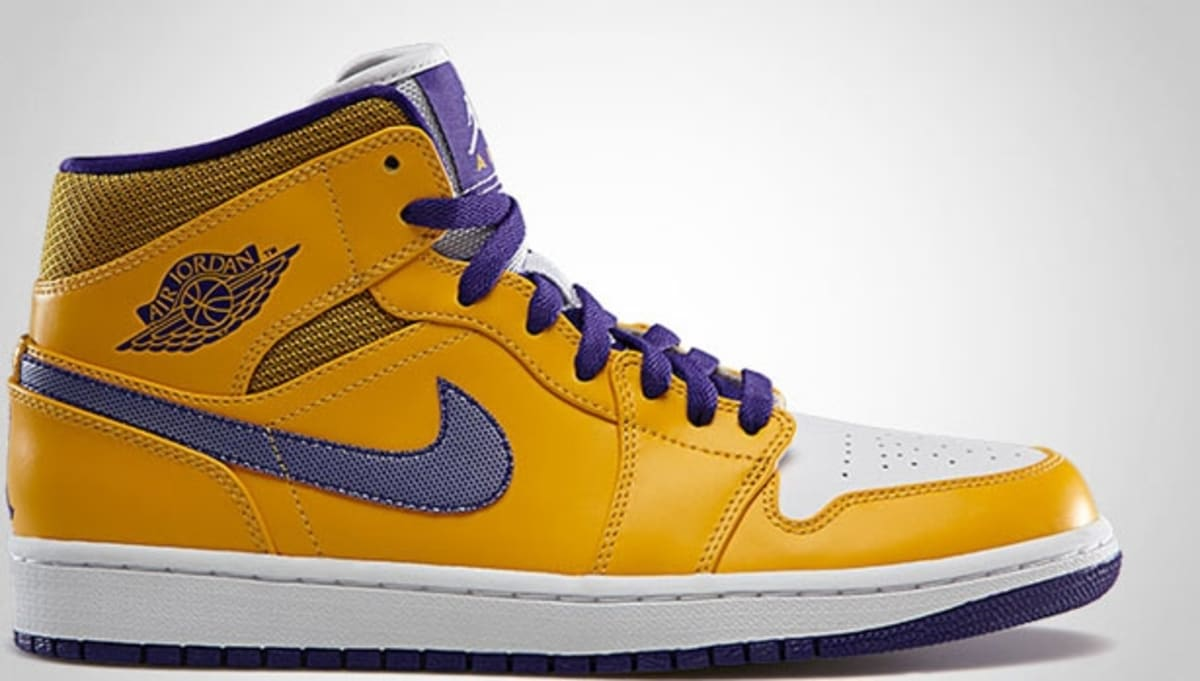 air jordan 1 mid university gold/yellow-white-grape ice
