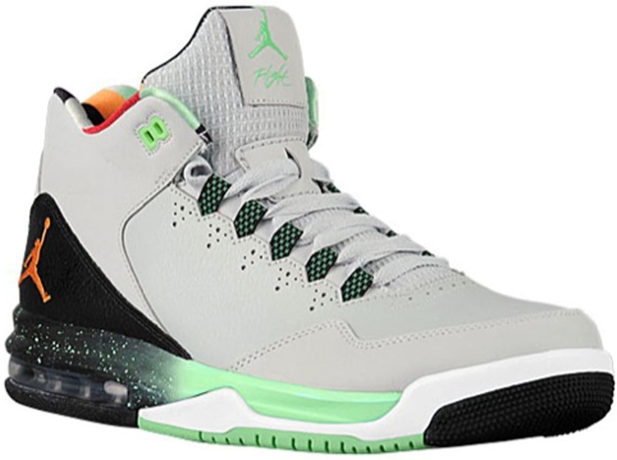 66dfafe1289 Jordan Flight Origin 2 Light Silver White-Black-Tourmaline-Bright Mandarin