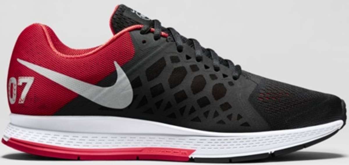 online retailer cf439 b10d0 Nike Air Zoom Pegasus 31 N7 Black University Red-Hyper Punch-Metallic Silver