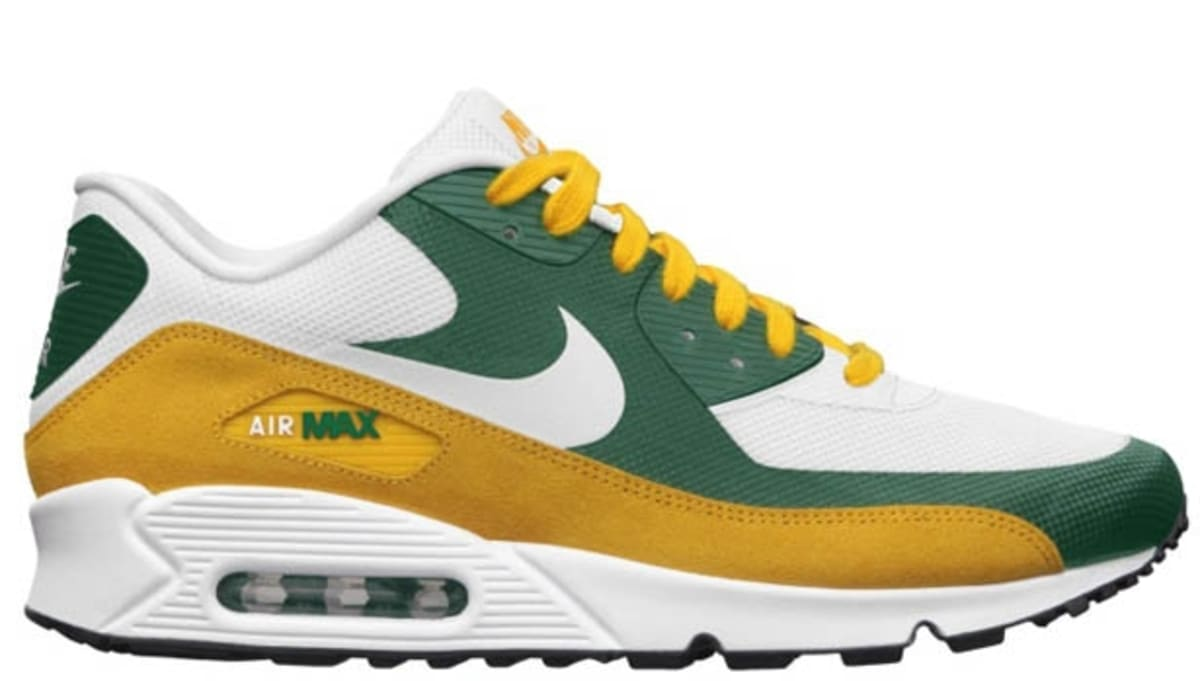 online store 8870e cfc41 Nike Air Max 90 Premium NFL Green Bay Packers Nike Sole ...