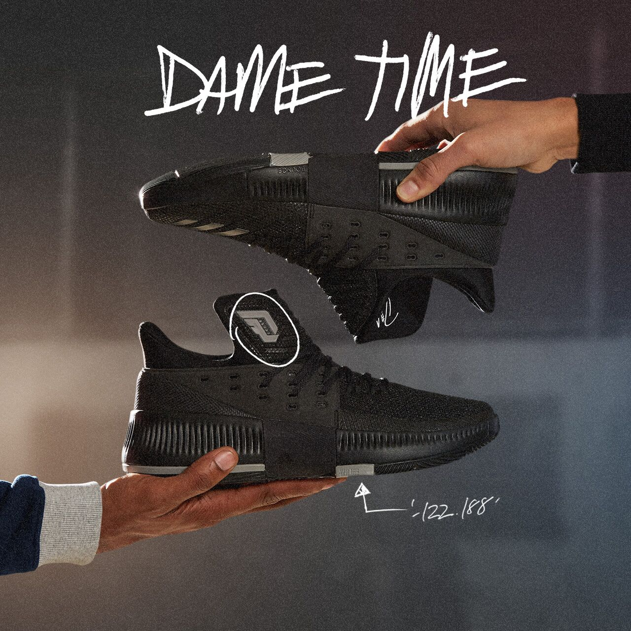 Adidas Dame 3 Lights Out In-Hand