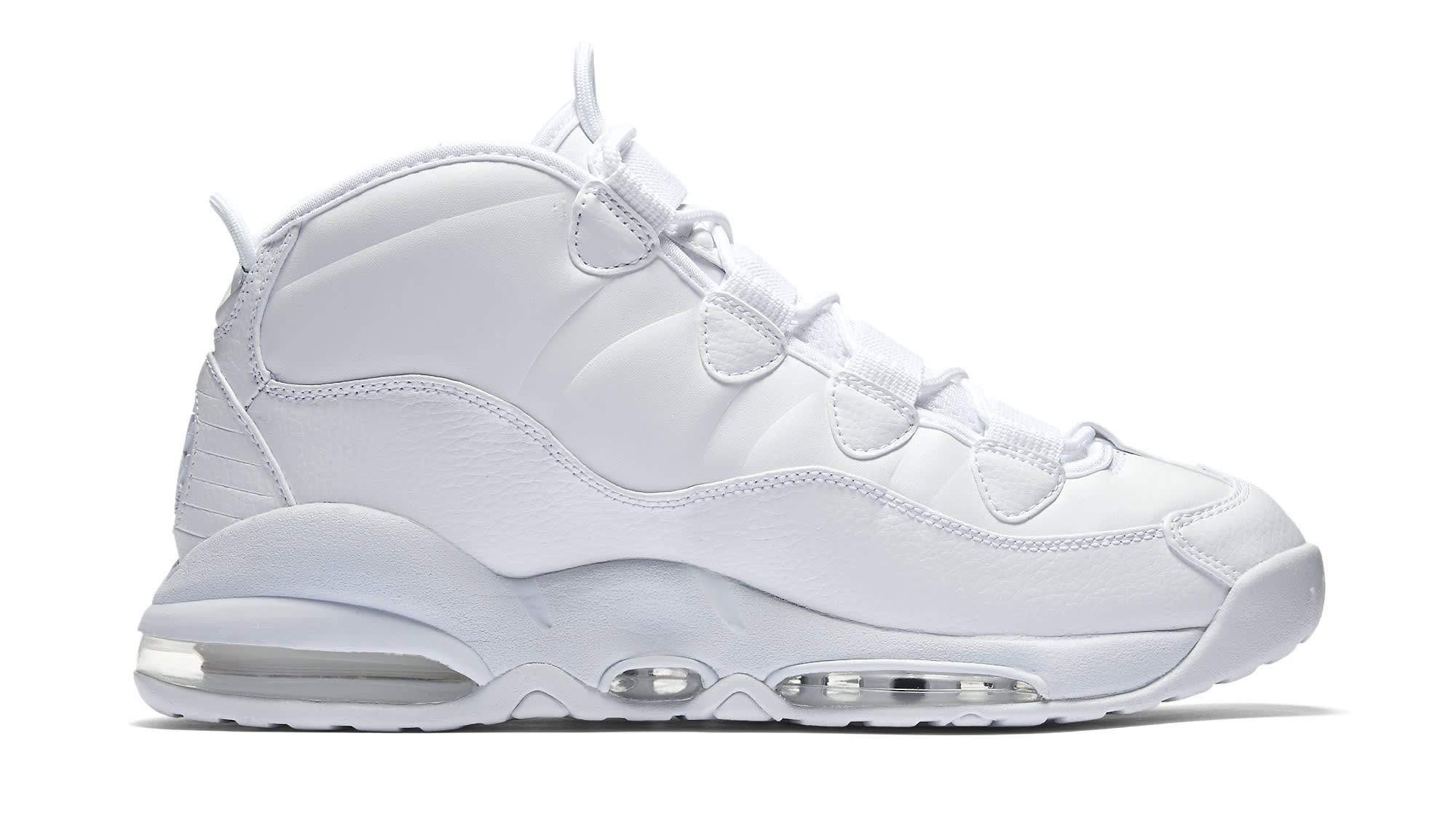 Triple White Nike Air Max Uptempo 922935-100 Medial