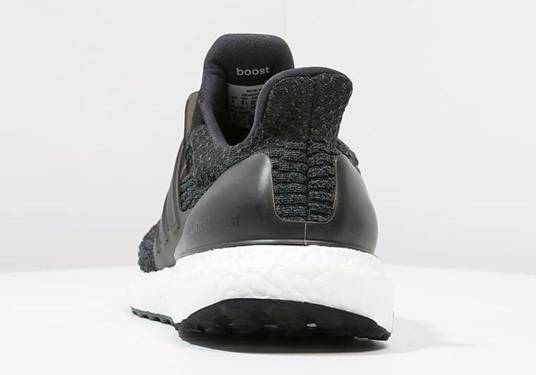 Adidas Ultra Boost 4.0 Black Grey Heel