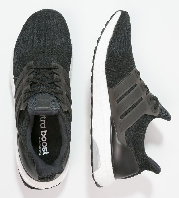 Adidas Ultra Boost 4.0 Black Grey Laterai