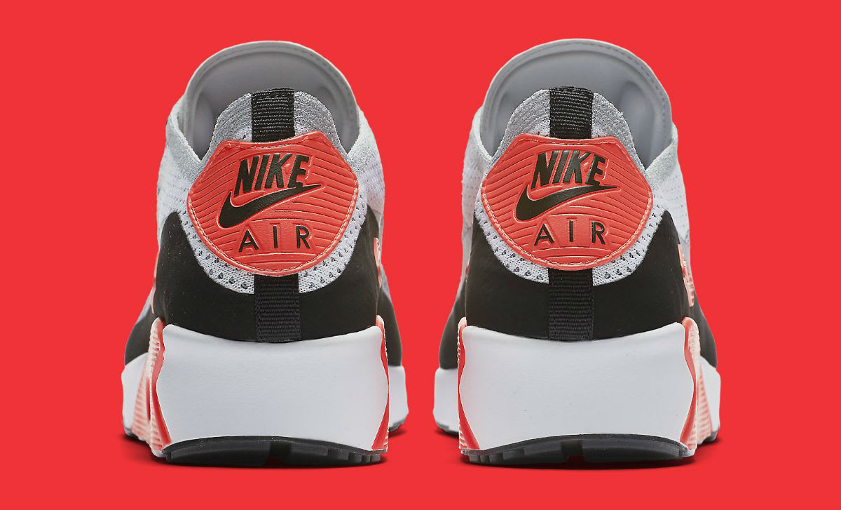 Nike Air Max 90 Ultra Flyknit Infrared Release Date Heel 875943_100