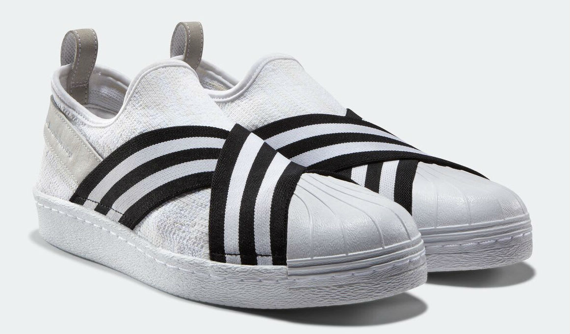 White Mountaineering x Adidas Superstar Slip-On White Toe