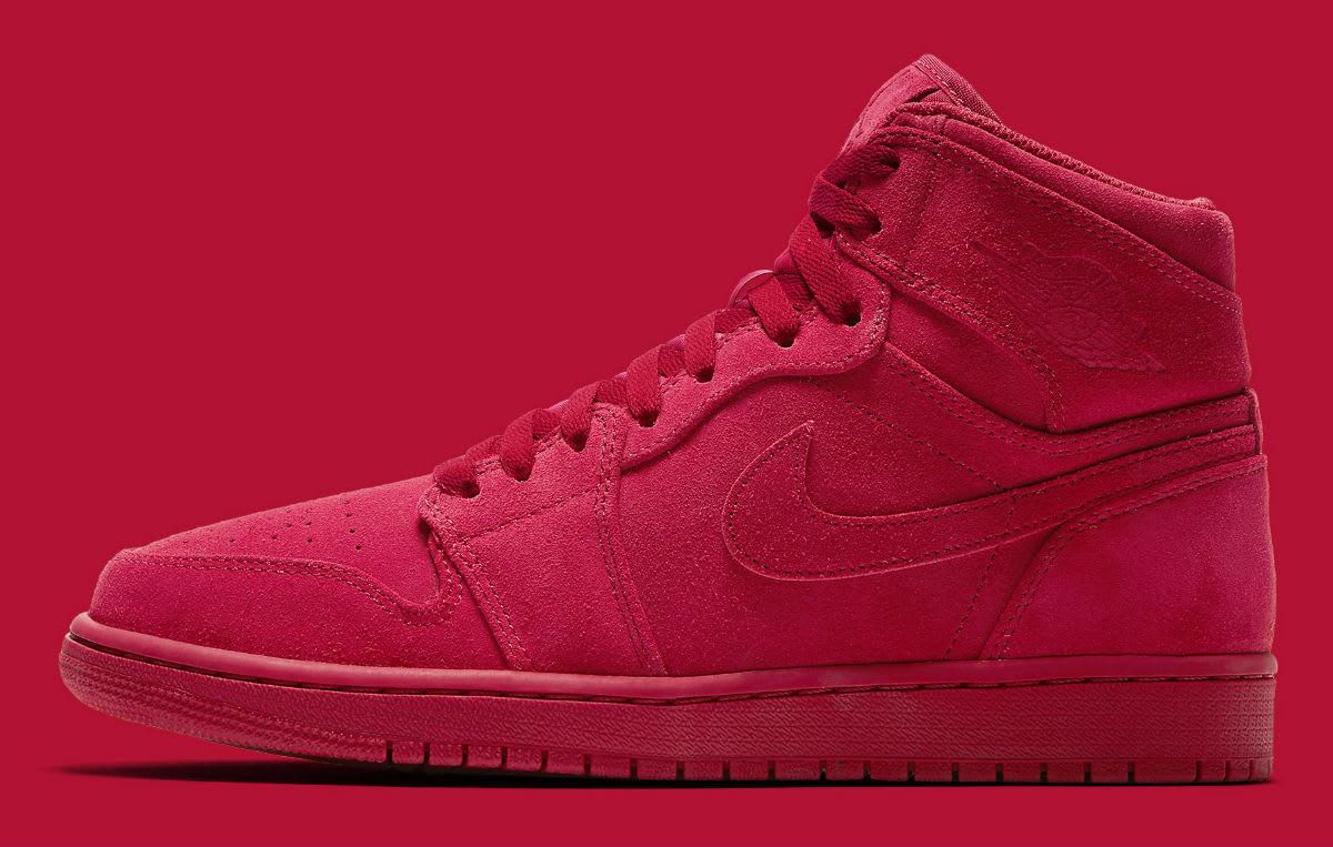 Air Jordan 1 High Red Suede Release Date Profile 332550-603