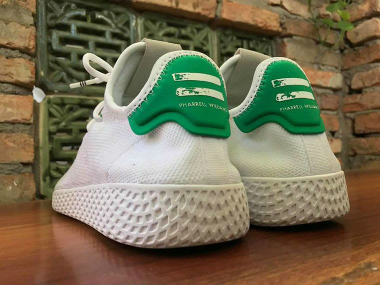 Pharrell Adidas Stan Smith Hu White Green Release Date Heel