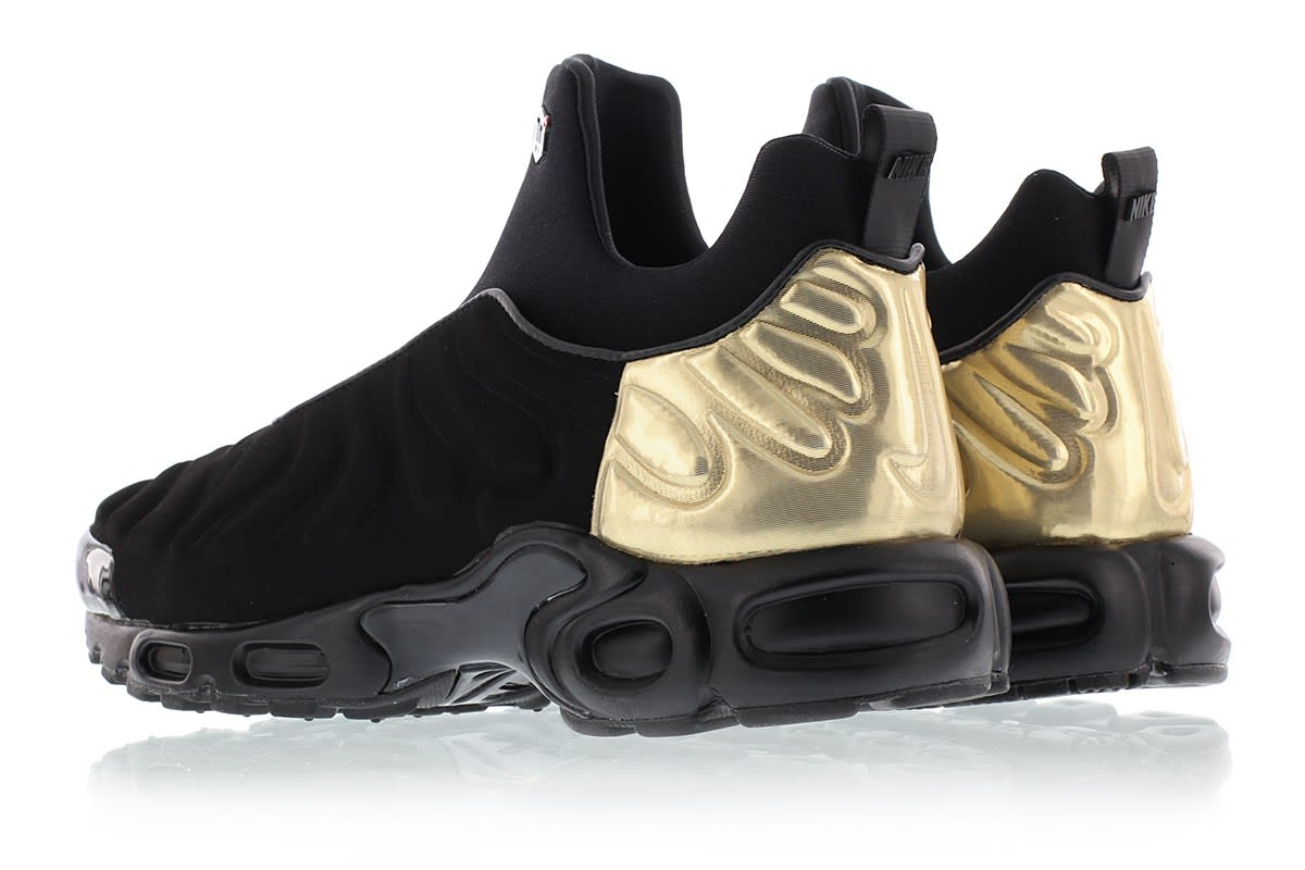 9bdc85f4ef Image via Titolo Nike Air Max Plus Slip On 940382-001 Black Gold Back